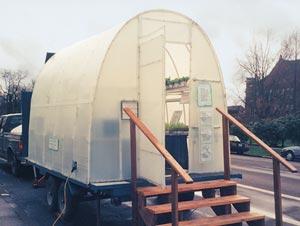 Canby school greenhouse using hydroponics and aquaponics