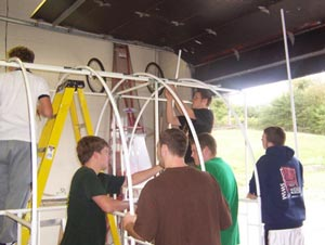 Haherstown school greenhouse