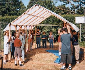 Hayesville school greenhouse
