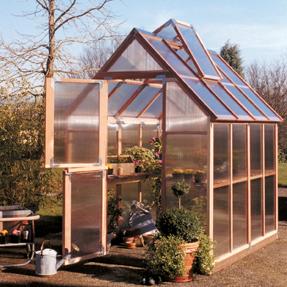6'x8' Sunshine Mt Hood Home Greenhouse