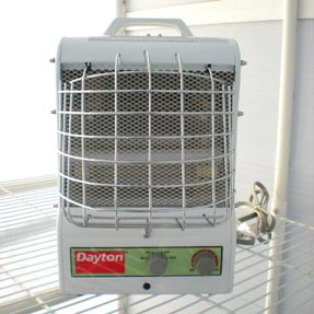 Dayton electric heater Heating large spaces
