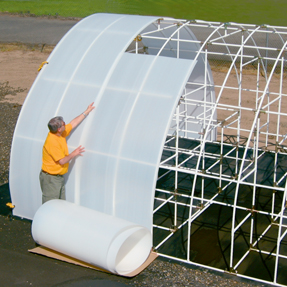 Twin Wall Solexx Greenhouse Covering In Rolls
